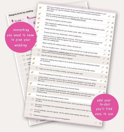 Wedding Checklist Wedding Planning Wedding Directory Uk