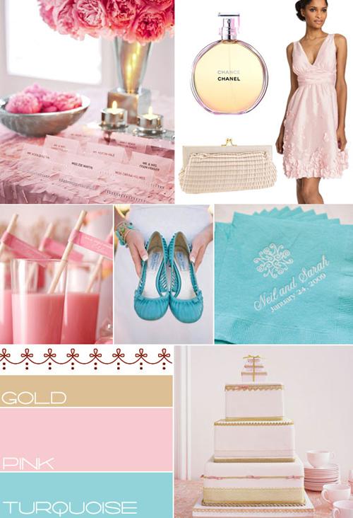 gold pink amp turquoise wedding wedding colour wedding