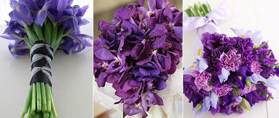 Wedding Bouquets With Iris Flowers