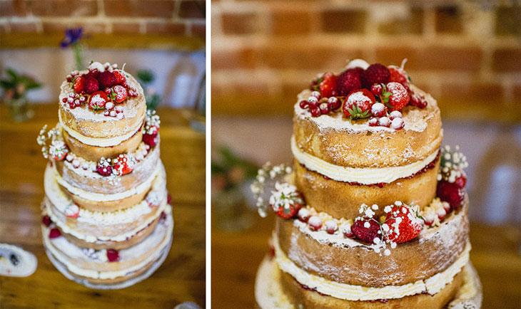 Summer fruits wedding cake