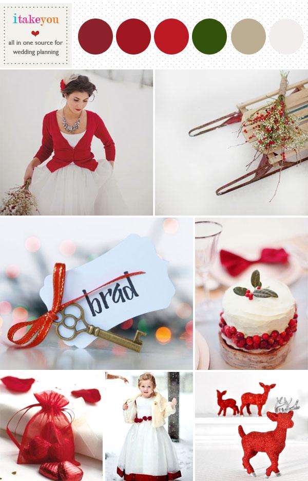Red Winter Wedding Inspiration