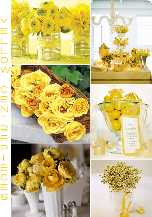 Yellow Wedding Centerpieces Decor