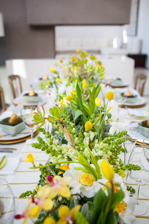 Yellow And Green Living Room Decor: Green And Yellow Spring Wedding Colours Palette