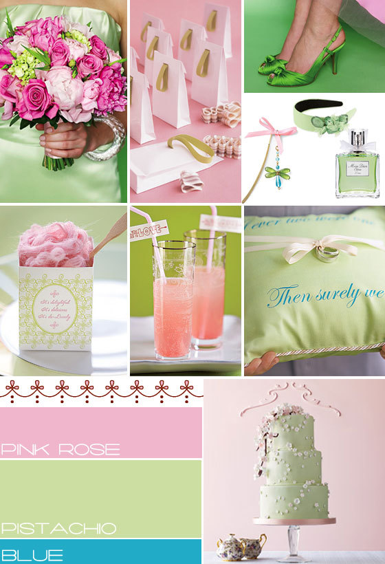 pink green blue wedding ideas,pink green blue wedding colours palette