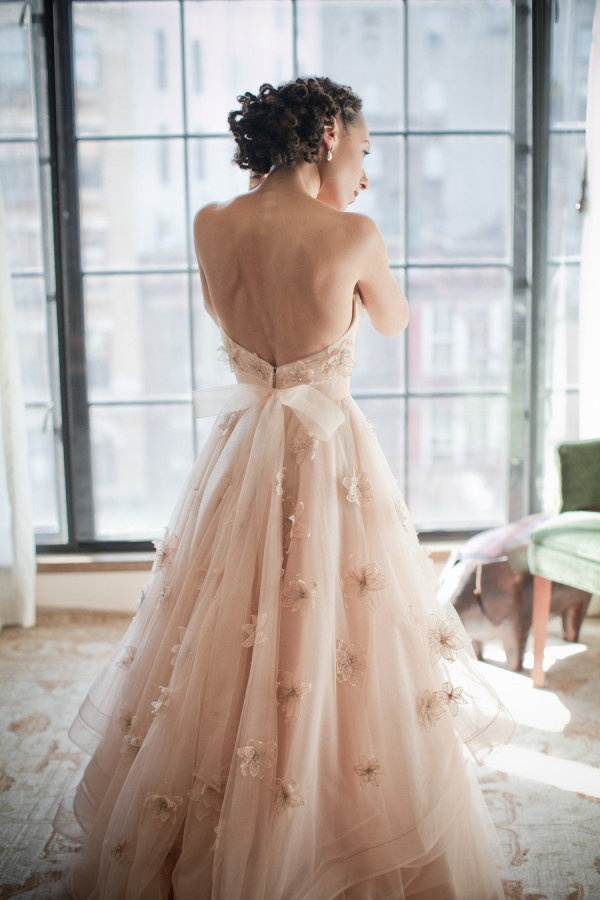 Sexy 2017 V Neck Crystals Beading Cap Straps Tulle ...  Pink Gold Dress