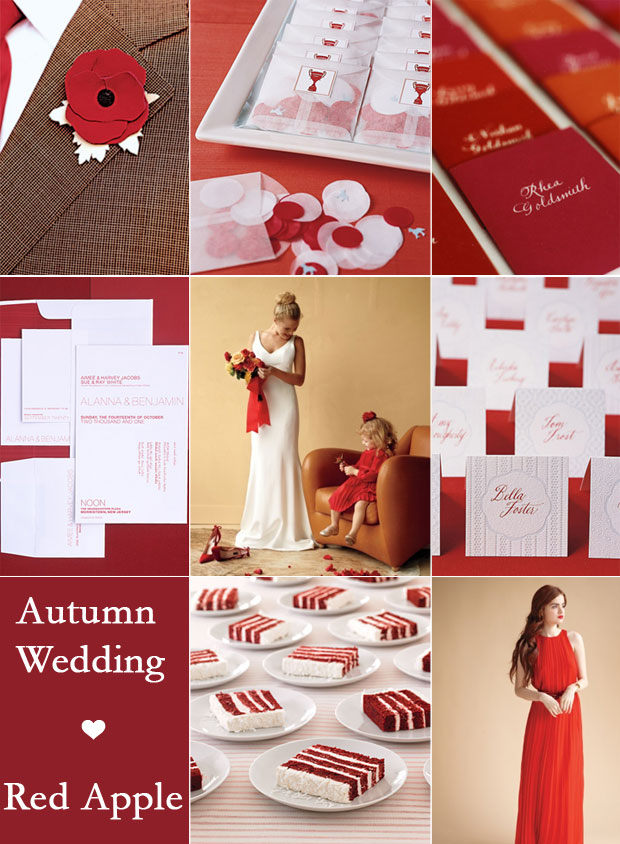 Red Autumn Wedding Colour Palette,red fall wedding