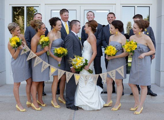 Grey yellow wedding colors palette,summer wedding colors