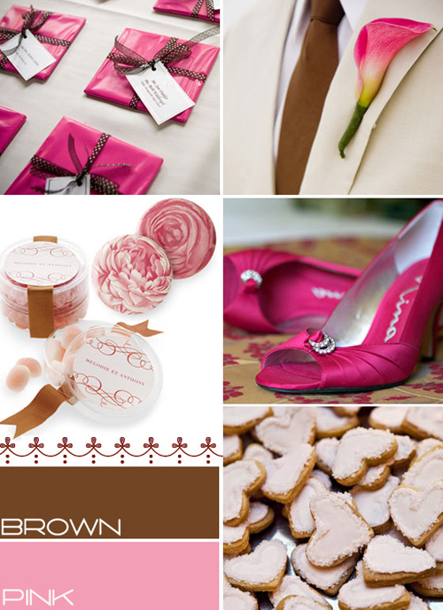 chocolate brown and pink wedding colors,brown pink wedding colours palette,brown and pink fall wedding,brown pink autumn wedding colours palette,color