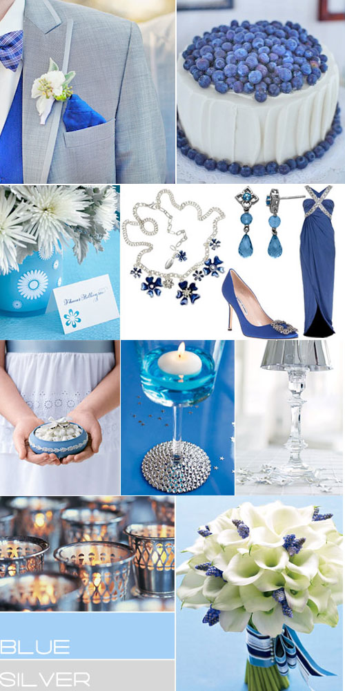 Blue Silver Wedding Colors Paletteroyal Blue Grey Wedding Colours