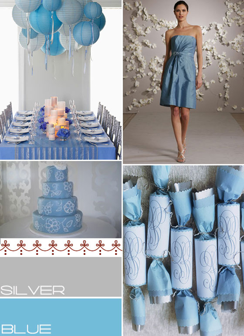 Winter Wedding Colours Ideasblue Silver Palettebaby Blue