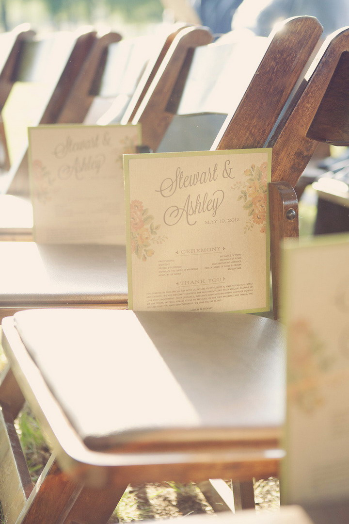 Wedding programs | itakeyou.co.uk #wedding #rusticwedding #romantic