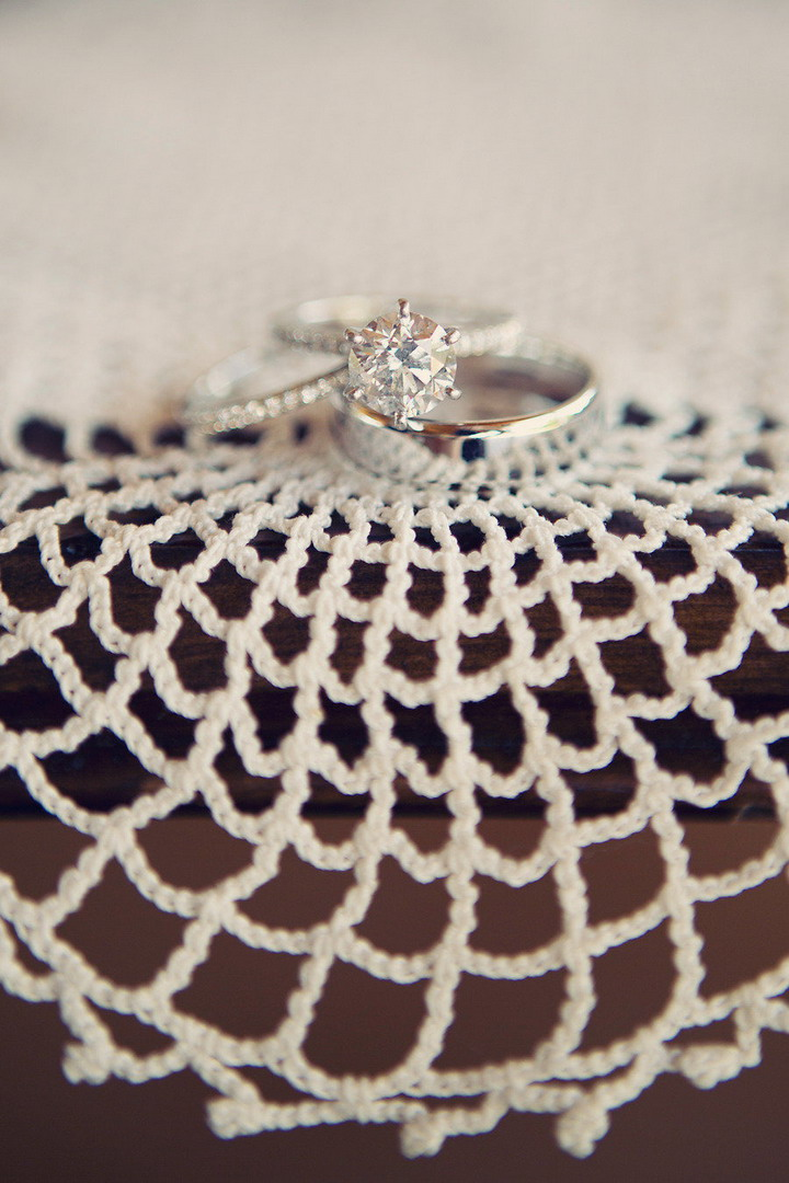 Engagement ring + wedding rings | itakeyou.co.uk #wedding #rusticwedding