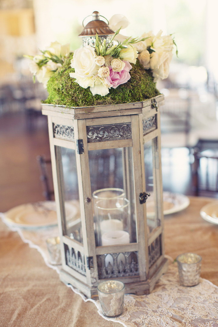 rustic chic wedding table decorations | itakeyou.co.uk #wedding #rusticwedding #romantic