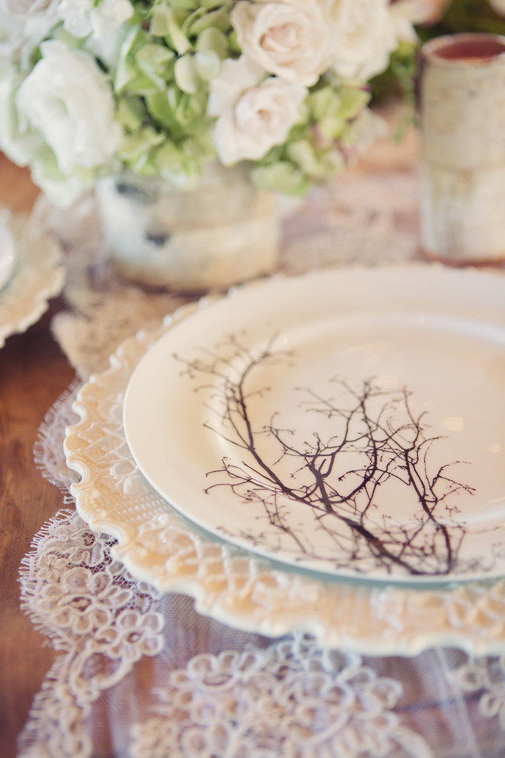 Wedding Place Setting | itakeyou.co.uk #wedding #rusticwedding #romantic