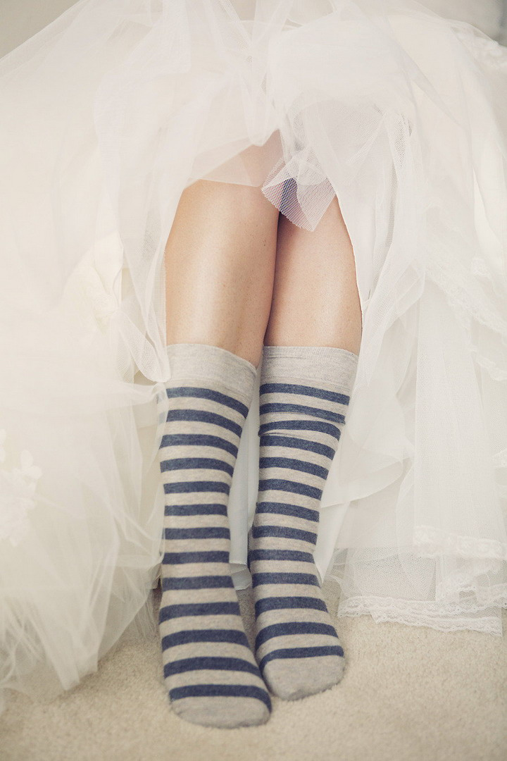 Bride accessories | bride socks | itakeyou.co.uk #wedding #rusticwedding