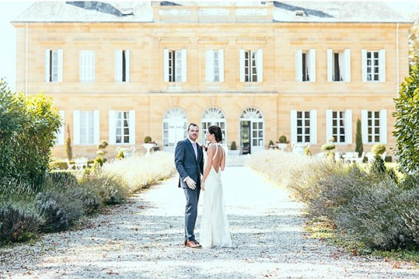 bride and groom,france destination wedding,elegant wedding,elegant vintage wedding