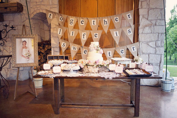 wedding cake and dessert table | itakeyou.co.uk #wedding #rusticwedding #romantic