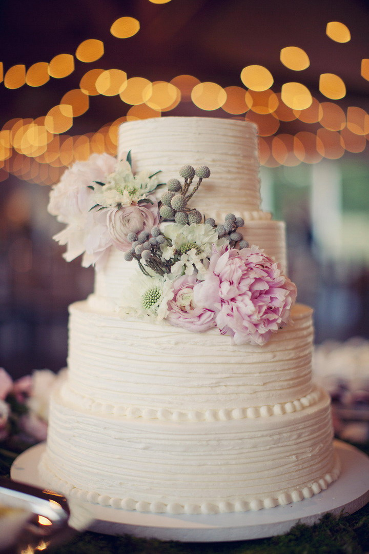 rustic chic wedding cake ideas | itakeyou.co.uk #wedding #rusticwedding #romantic