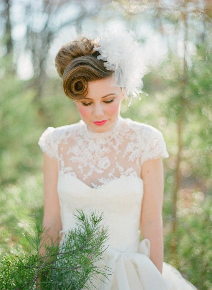Vintage wedding hairstyles for long hairretro wedding hairstyles vintage wedding hairstyles for long hair junglespirit Gallery