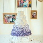 white purple wedding cake,ombre wedding cakes