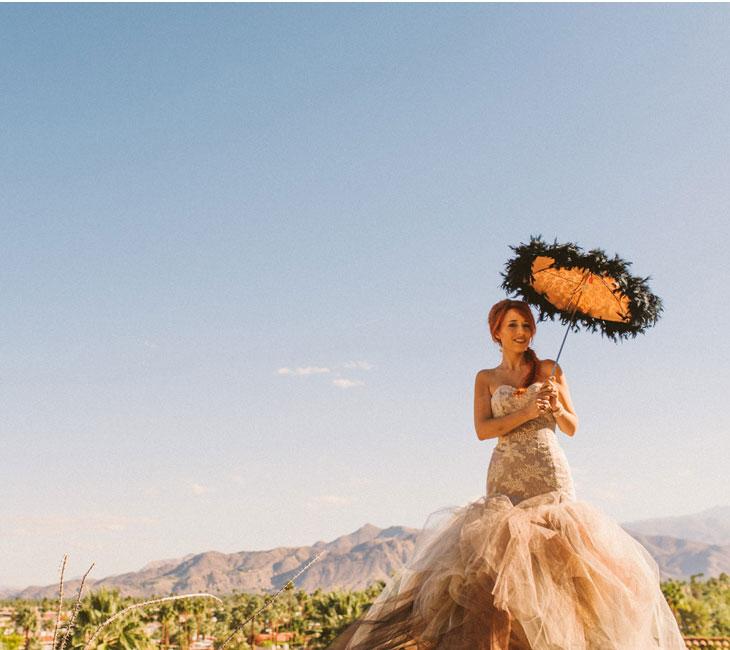 Palm springs wedding ,bride