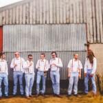 blue peach coloured grooms men ,groomsmen suspenders