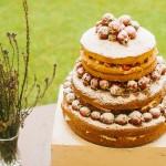 naked wedding cake,garden wedding cake ideas