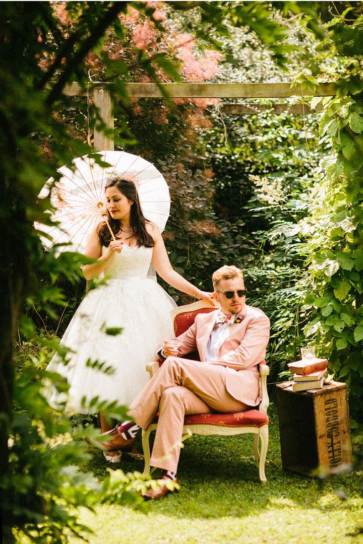 A 1950 Tea Length Dress for a charming vintage tea party garden wedding picnic style | itakeyou.co.uk - uk wedding blog