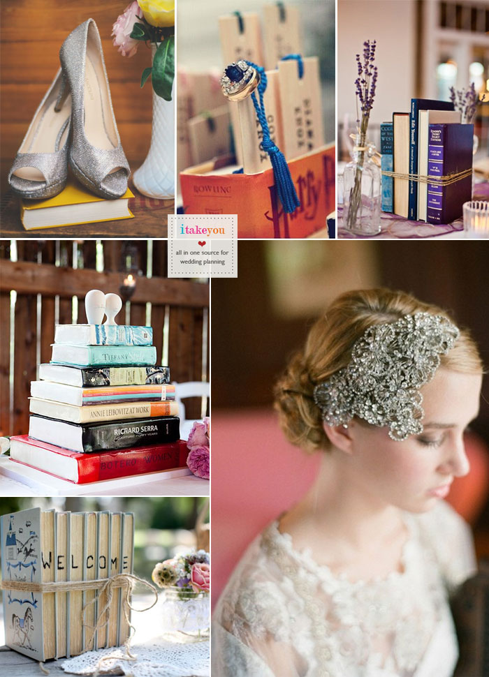 Read more Book Themed Wedding Ideas https://www.itakeyou.co.uk/wedding/book-themed-wedding/ book themed centerpieces,book themed wedding favor,book vintage wedding style,vintage book themed wedding,vintage comic book