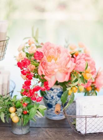 coral wedding ideas,coral wedding flowers,coral centerpieces