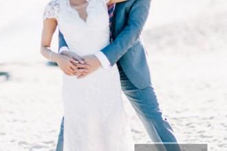 Beach Wedding From Joseph Lin Photography see more https://www.itakeyou.co.uk/wedding/beach-wedding-from-joseph-lin-photography/ cute bride and groom ,cute wedding
