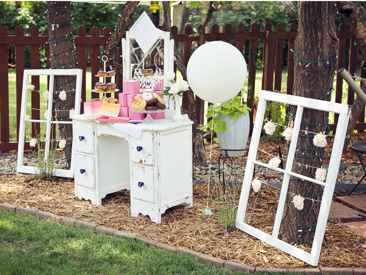 Read More Vintage Pink Backyard Bridal Showerpink Centerpieces Http