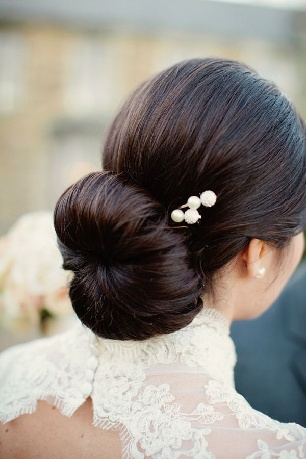 Chignon Hairstyle Wedding,Sleek chignon,Classic Chignon