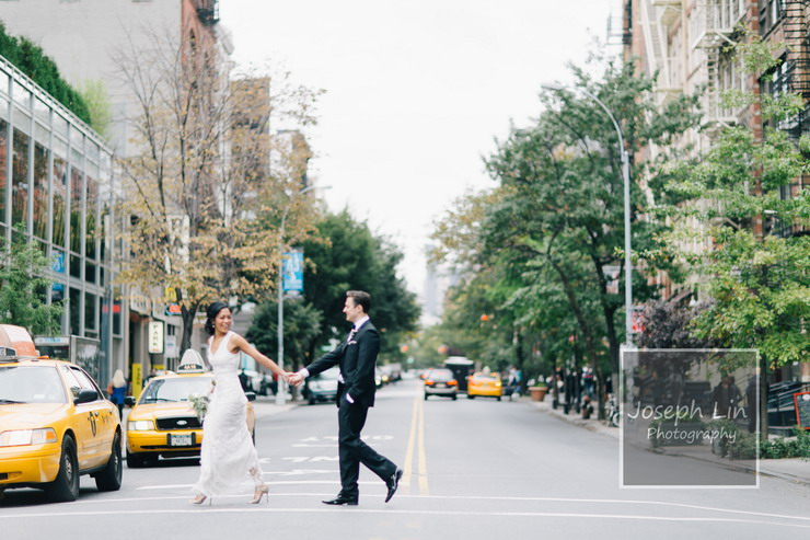 New York City Wedding From Joseph Lin Wedding Photography - see more : https://www.itakeyou.co.uk/wedding/new-york-city-wedding-from-jeseph-lin/ city wedding photos