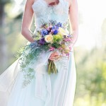 Blue wedding ideas : see more - https://www.itakeyou.co.uk/wedding/light-blue-wedding-ideas/ blue wedding bouquet