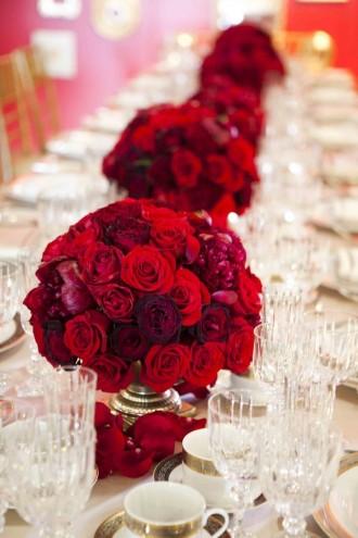 Red wedding ideas - see more :https://www.itakeyou.co.uk/wedding/red-wedding-ideas/ red wedding photos,red wedding dress,red wedding bridesmaids,red wedding decorations,red wedding flowers