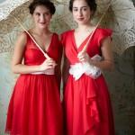 Red wedding ideas - see more :https://www.itakeyou.co.uk/wedding/red-wedding-ideas/ red wedding photos,red wedding dress,red wedding bridesmaids,red wedding decorations,red wedding flowers,red bridesmaids