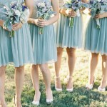 soft blue bridesmaids
