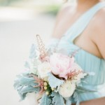 soft blue bridesmaid