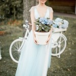 soft blue wedding dress