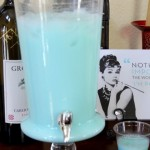 soft blue wedding drinks