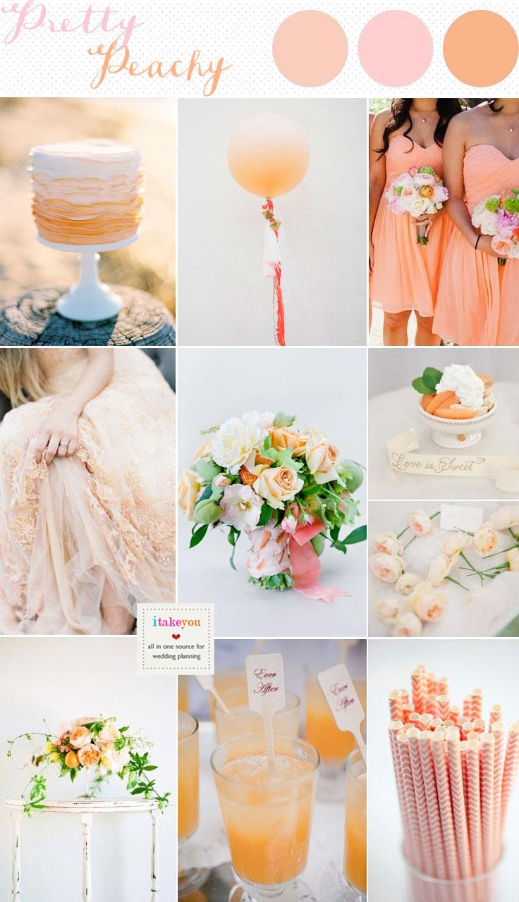 Peach wedding inspiration,peach wedding colour schemes