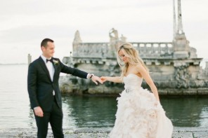You were born together,bride and groom,wedding photo