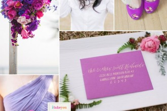 shades of purple wedding,Dusty Pink Indigo Lilac and Radiant Orchid Wedding,radiant wedding palette