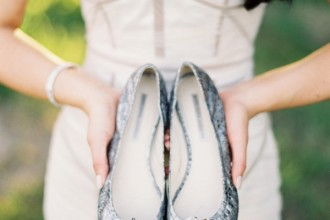 15 Pretty Flats for Every Summer Bride,wedding sandals,flats wedding shoes,flat wedding shoes for bride,wedding shoes flat sandals,wedding shoes flat open toe,Shoes by Vera Wang / Photography by stewartleishman.com
