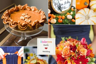 orange navy blue autumn wedding colour palette