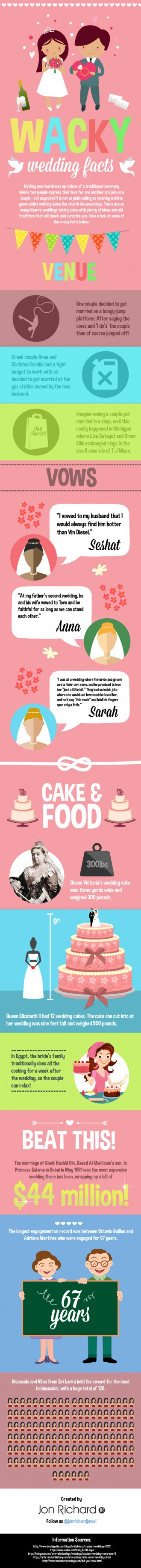 Wacky Wedding Facts,infographic,wacky wedding ideas
