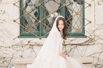 Cathedral wedding veils