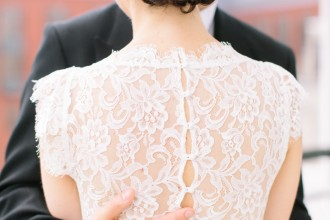 gorgeous and romantic back wedding dress : meganchasephotography.com