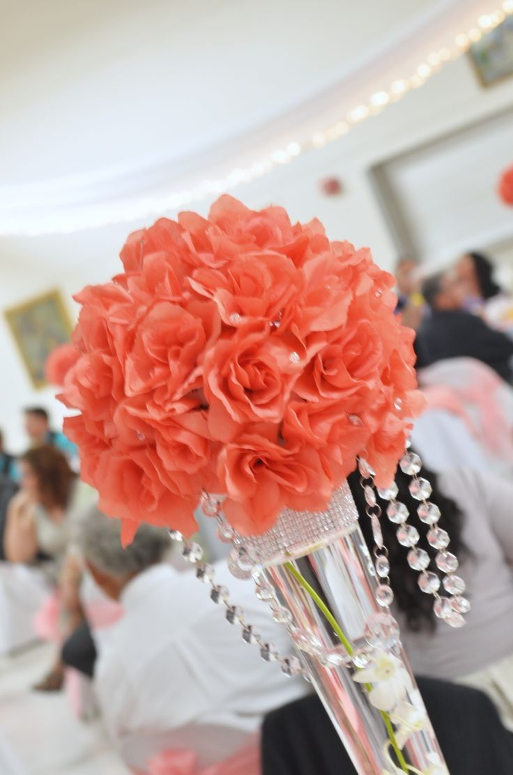 Coral wedding ideas coral wedding dresses for Wedding flowers ideas pictures